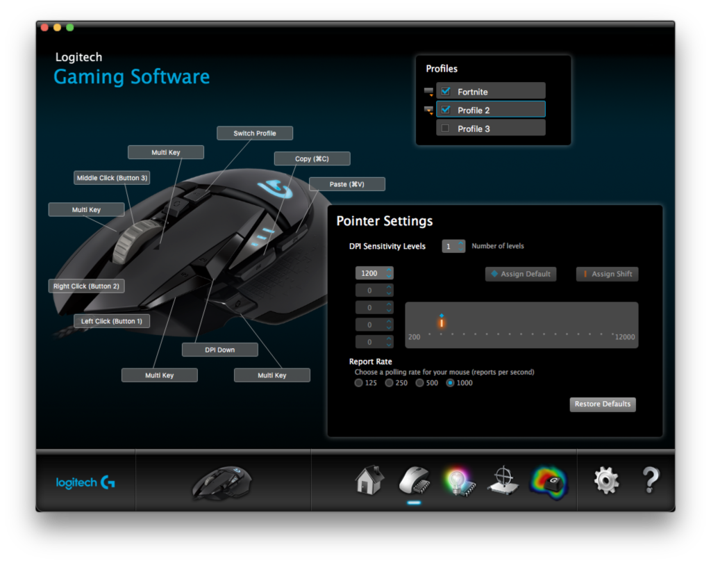 Logitech G502 Shortcuts for Productivity